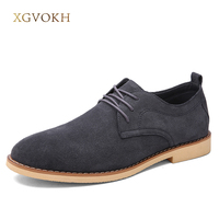 Men Shoes Genuine Leather Business Flats Solid Spring Autumn Mens XGVOKH Brand Fashion Black Popular Casual