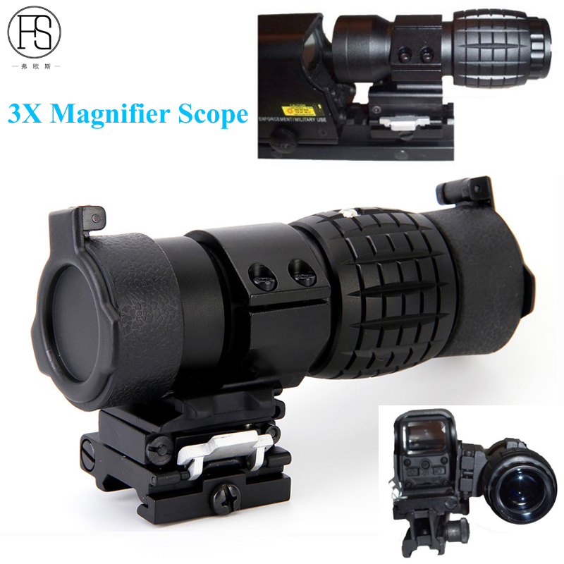 Hot! Tactical Hunting Airsoft Rifle Scope 3X Magnifier Scope Military Shooting Rifle 20mm Rail With Cover Rifle Gun Optic Sight rifle scope canis latrans cl1 0285 3x 9x illuminated crosshair outdoor sight hunting traveling monocular gun scope 20mm or 11mm