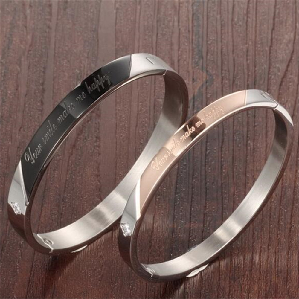 Your Smile Make Me Happy Lovers Women And Men Matching Bracelets For