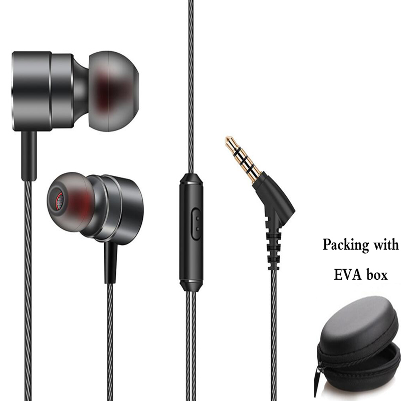 Original HC062 10mm dynamic unit earbuds metal bass earphone magnetic headset with microphone for smart phone gaming mp3 music