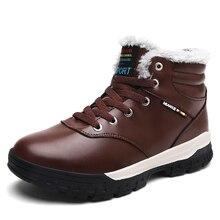 Зимние Для мужчин Лидер продаж кожа Открытый обуви Для мужчин Зимние сапоги с высоким голенищем чёрный; коричневый Теплые Для мужчин S Пеший Туризм Открытый Сапоги и ботинки для девочек дешевые большой Размеры 39- 48