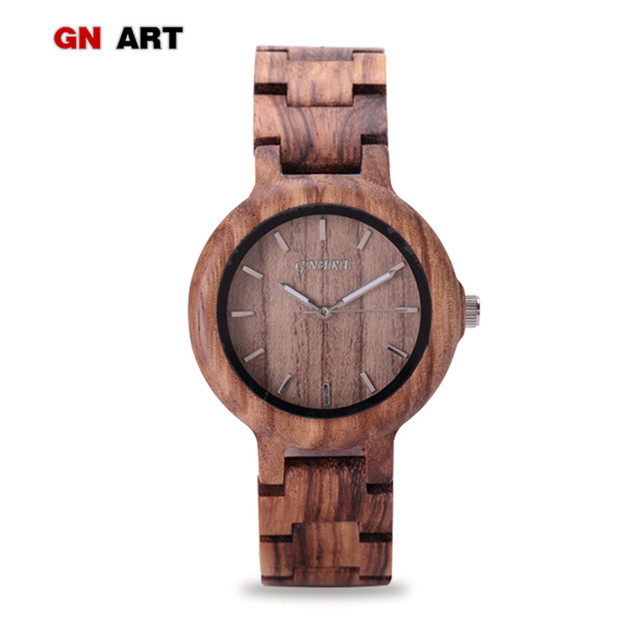 099 Wood Watch Women Wood Wristwatch relogio feminino for Brand Quartz Watch art