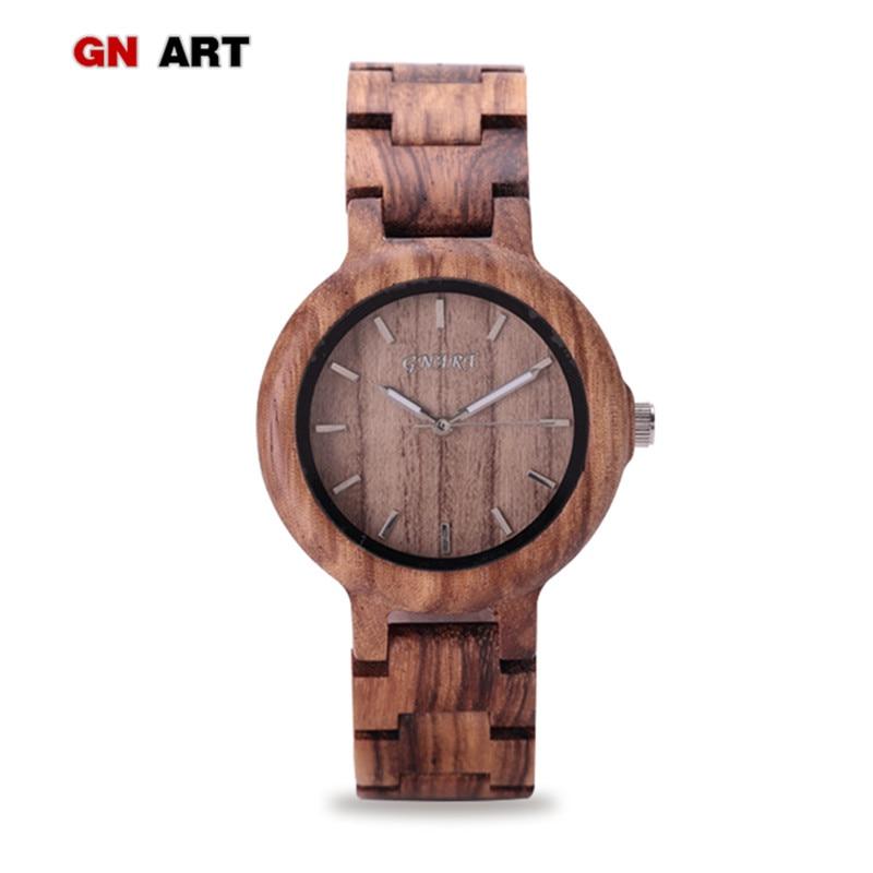 099 Wood Watch Women Wooden Watches for Brand Quartz Watch art Creative Bracelet Womens
