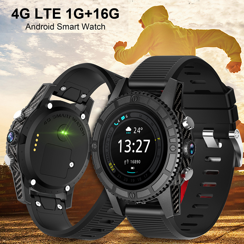 2018 Classic 4G Smart Watch With SIM Card MT6737 WIFI 1.39 Big Screen Camera Longtime Standby Quick Charge Wristwatch For Gifts
