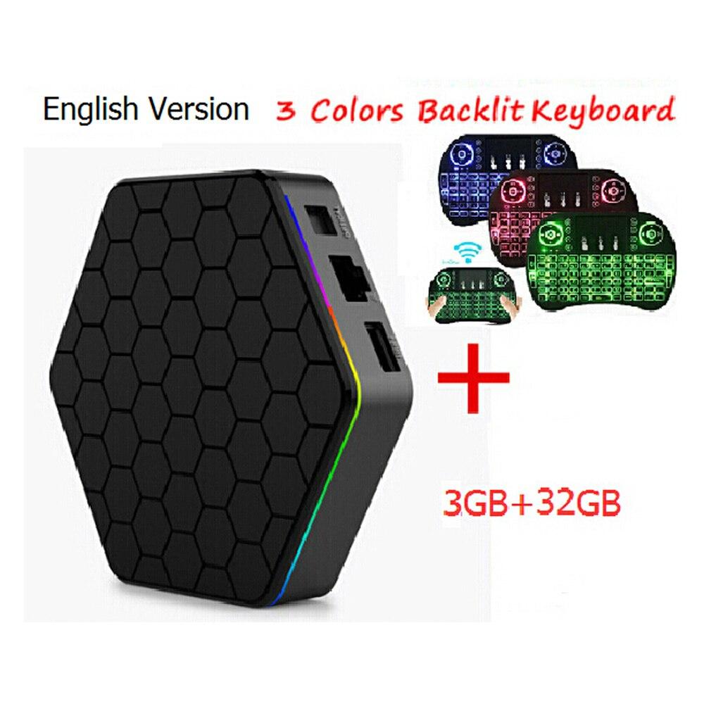 S912 T95Z Plus Amlogic del Androide 6.0 TV BOX 3 GB 32 GB Octa núcleo Dual WiFi