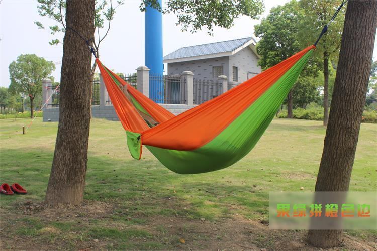 2 people Hammock 16 Camping Survival garden hunting swing Leisure travel Double Person Portable Parachute outdoor furniture 7