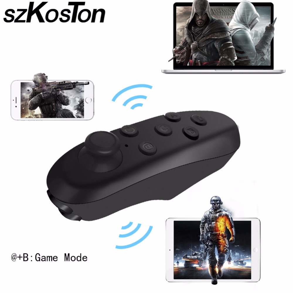 Wireless Bluetooth Gamepad 3D VR Remote Kontrol Portabel Mini Game Untuk Android Joystick Game Pad Kontrol