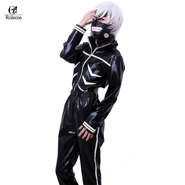 Rolecos Japanese Anime Tokyo Ghoul Cosplay Costume Kaneki Ken Role