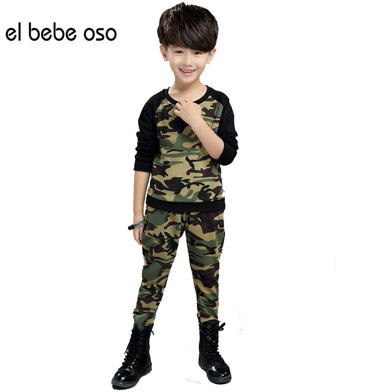 Children Camouflage Clothing Sets Boys Camouflage Sports Suits Autumn Kids Tracksuits 2017 Teenage Boys Sportswear Suit XL690 kids clothes boys clothing sets summer sport suit children short sleeve camouflage pant suits 1 4t toddler tracksuits 2017