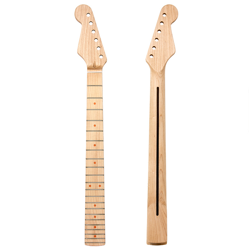 left handed lefty electric guitar neck for electric guitar parts replacement 22 frets maple. Black Bedroom Furniture Sets. Home Design Ideas