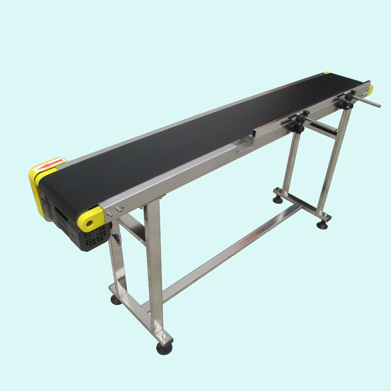 Small belt conveyor band carrier PVC line sorting conveyor for bottles/ food customized moving belt, rotating table 1 pc