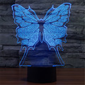 2016 New Colorful USB 3D Butterfly Bedroom Office Home Decoration Desk Table Lamp Child Night Lights Christmas Gift  3D-TD115
