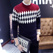2017 New Autumn Fashion Brand Casual Sweater O-Neck Slim Fit Knitting Mens Sweaters And Pullovers Men Pullover Men