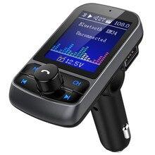 Автомобильный MP3 fm-передатчик Bluetooth hands-free автомобильный комплект беспроводной радио аудио адаптер USB зарядное устройство AUX аудио вход поддержка TF карты