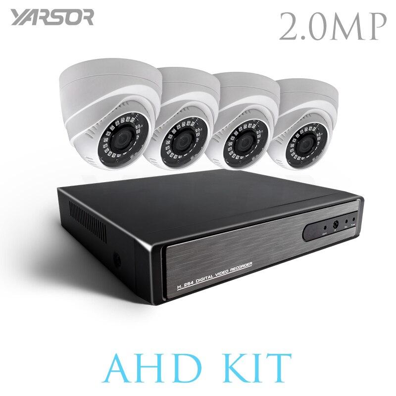 AKT2004TQ 4CH CCTV Системы 1080 P HDMI AHD DVR 4 шт. 2,0 МП Купол ИК Ночное Видение безопасности Камера домашнего наблюдения системы комплект
