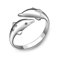925 Sterling Silver Dolphin Ring Female Openings Ring Designer Jewelry Free Shipping SR023