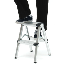 150 кг складная лестница Максимальная нагрузка 2 шаг стул лестница Нескользящая безопасный алюминий лестница