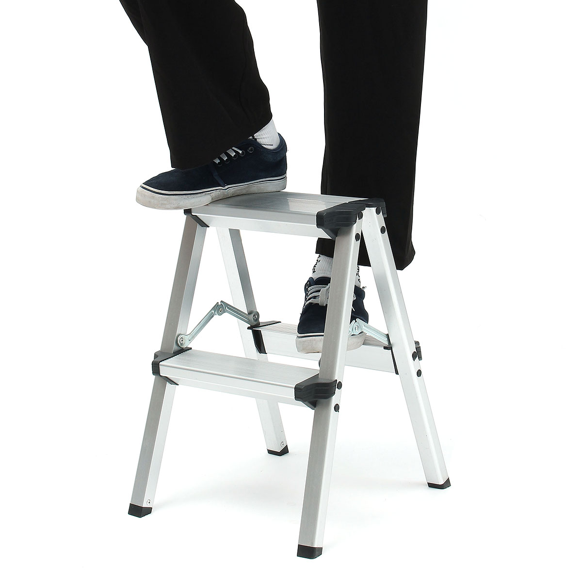 Miraculous Us 33 66 34 Off 150Kg Folding Ladder Maximum Load 2 Step Stool Ladder Anti Slip Safety Aluminium Ladder In Ladders From Tools On Aliexpress Pabps2019 Chair Design Images Pabps2019Com