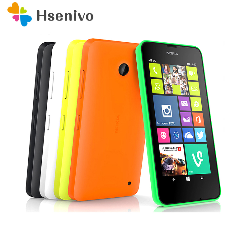 630 Unlocked single/Dual Sim Mobile Phone Nokia Lumia 630 Windows phone 8.1 Snapdragon 400 Quad Core 4.5 Screen 3G cell phone image