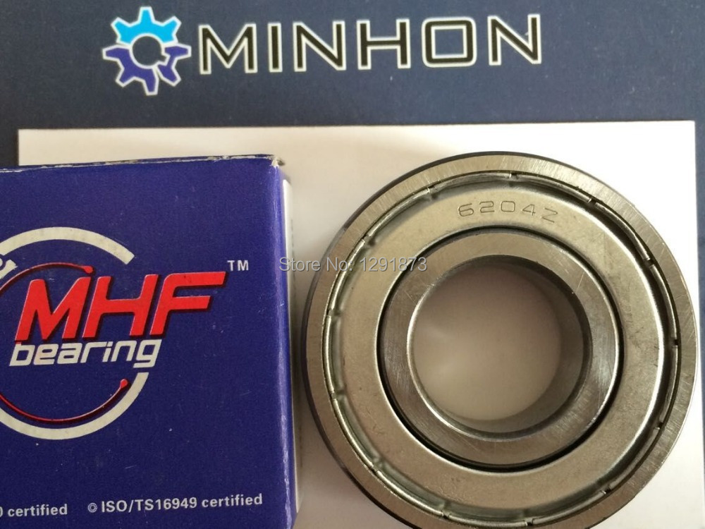 Free Shipping 1pc 6204ZZ 6204 MHF GCr15 Miniature Ball Bearing ABEC-3 Size 20x47x14 mm Best and Lowest Price High Performance
