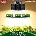 CREE CXB3590 3500 K 100 W COB LED crece la luz de espectro completo conductor MeanWell CREE LED creciente lámpara de planta de interior el crecimiento de la luz del Panel
