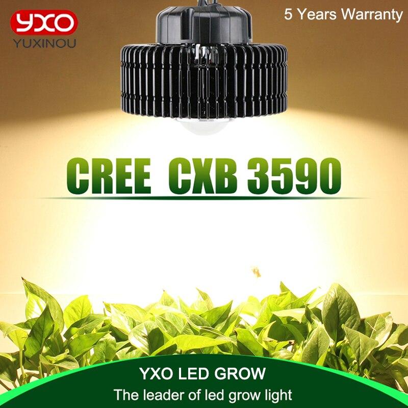 CREE CXB3590 3500 k 100 w COB LED Élèvent La Lumière Plein Spectre MeanWell Pilote CREE LED Lampe Croissante de Plantes D'intérieur croissance Panneau Lumineux