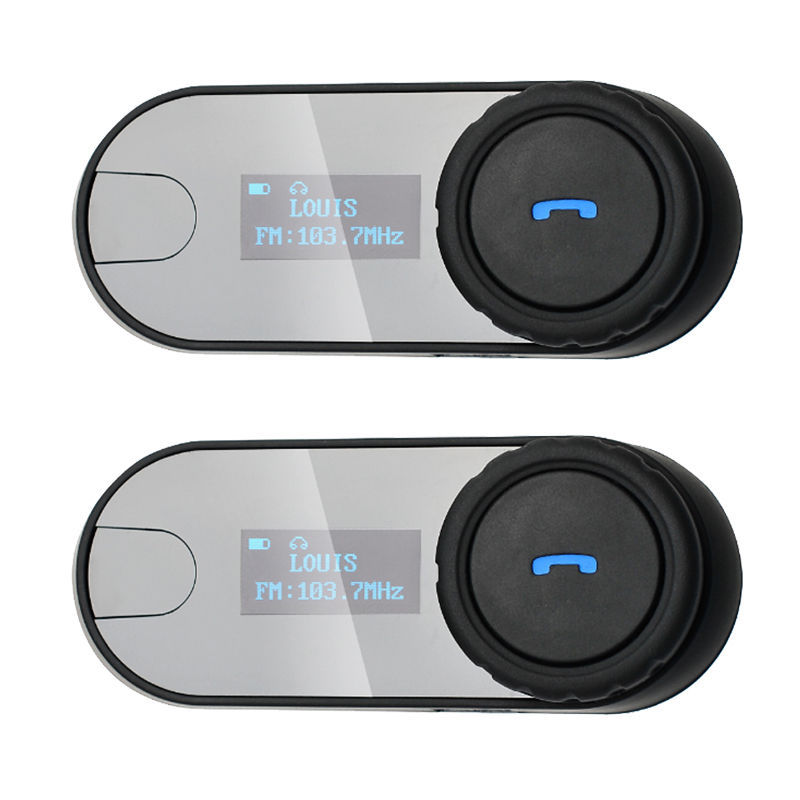 2pcs TCOM-SC With Screen 800M BT Bluetooth Motorcycle Motorbike Helmet Intercom Headset FM MP3 1000m motorcycle helmet intercom bt s2 waterproof for wired wireless helmet