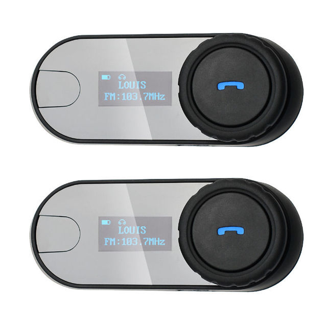 2pcs TCOM-SC With Screen 800M BT Bluetooth Motorcycle Motorbike Helmet Intercom Headset FM MP3 Free Shipping