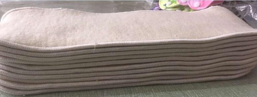 Новые 3 слоя конопли органический хлопок Многоразовые стираемые тканевые подгузники вставки для детей и взрослых 12 шт