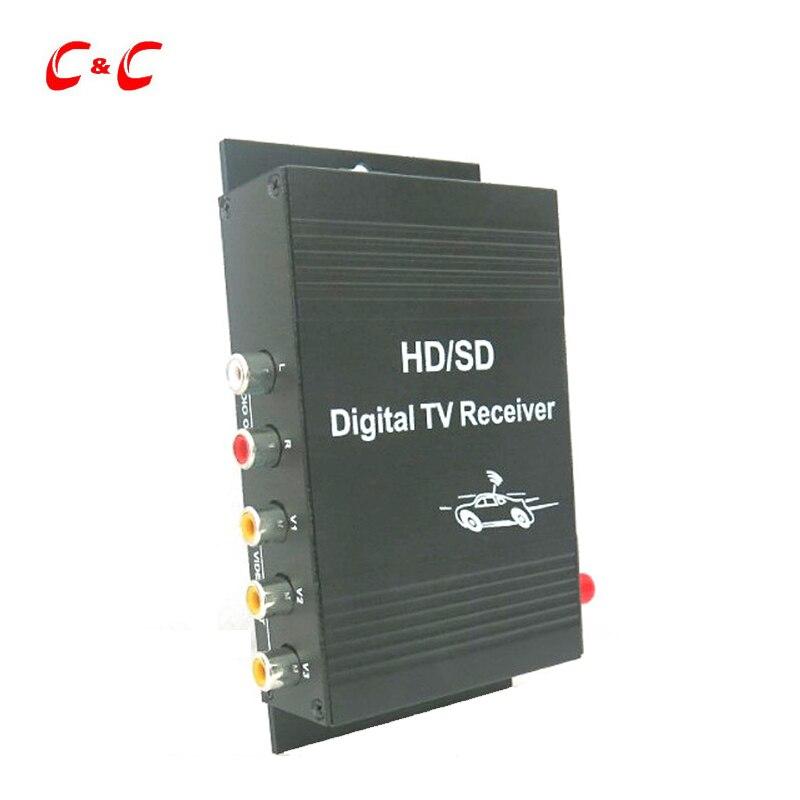140-190 km/h voiture numérique TV Tuner ISDB-T TV récepteur boîte pour brésil amérique du sud chili argentine pérou pour voiture lecteur DVD LCD TV