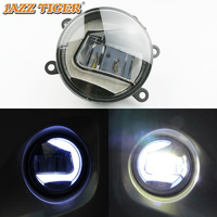 JAZZ TIGER 2 in 1 Functions LED Daytime Running Light Car LED Fog Lamp Projector Light For Honda Fit Jazz 2014 2015 2016 2017