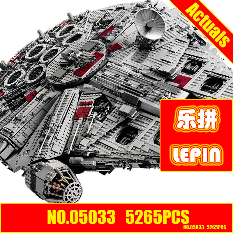 Lepin 05033 star wars 5265Pcs Ultimate Collector's Millennium Falcon Model Building Blocks compatible 10179 lepin 05035 star wars death star limited edition model building kit millenniums blocks puzzle compatible legoed 75159