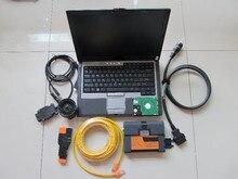 Купить с кэшбэком newest version for bmw code reader expert mode 500gb hdd software + for bmw icom a2+D630 Laptop (4G) ready to use
