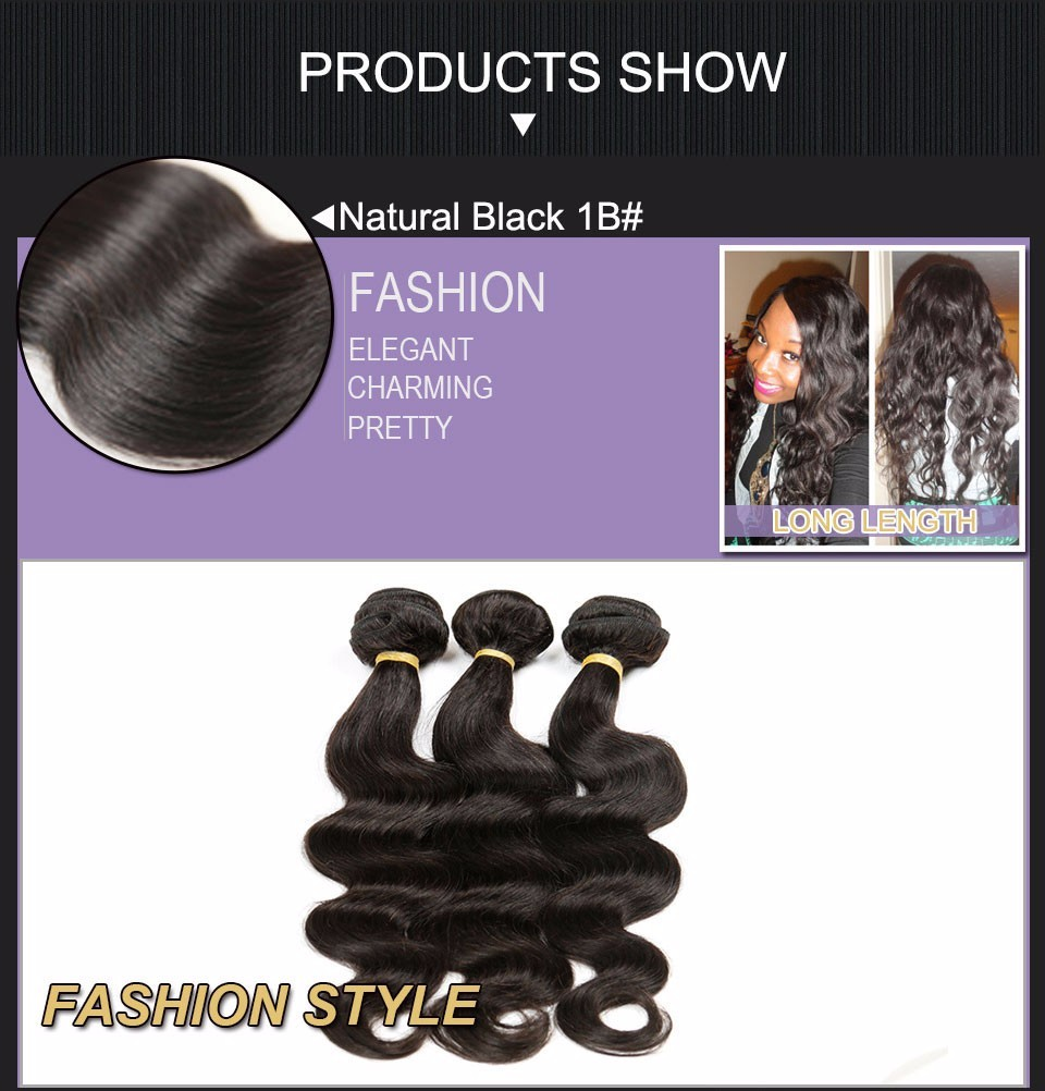 Brazilian Virgin Hair Body Wave 4 Bundles brazilian hair weave bundles 100% Unprocessed Virgin Human Hair Bundles Brazilian  Body Wave Alimice (2)