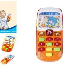 Мини милые дети телефон мобильный телефон развивающие игрушки, музыкальный инструмент для ребенка электронный телефон музыкальная игрушка
