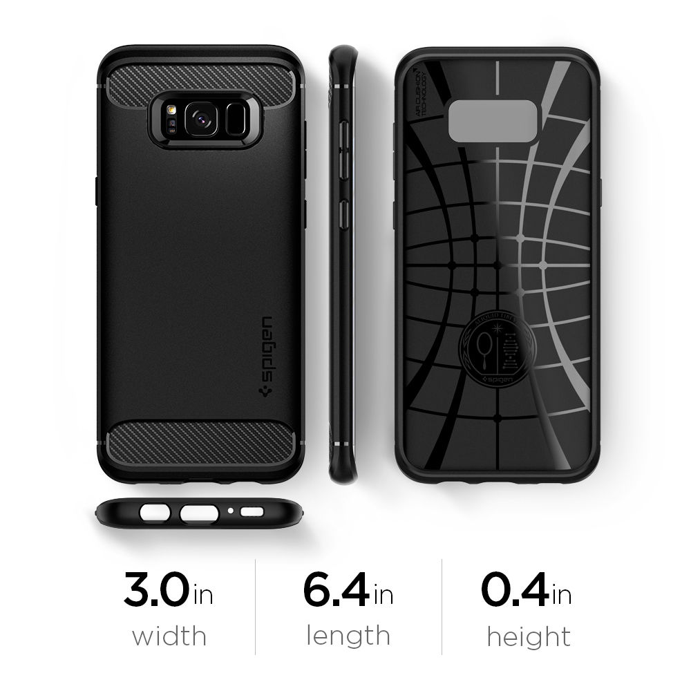 official photos 458d2 d6f8f US $16.99 |100% Original SPIGEN Rugged Armor Case for Samsung Galaxy S8+ /  S8 Plus (6.2 inch) with Retail Package-in Fitted Cases from Cellphones & ...