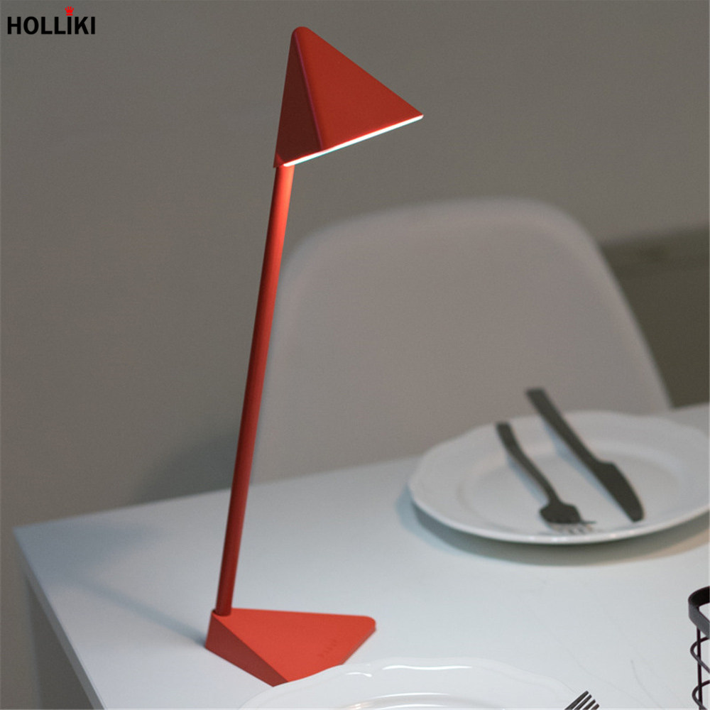 LED Geometry Triangle Desk Table Lamp Minimalist Detachable Touch Dimmer Reading Lamp for Office Student Study Luminaria De Mesa 48 led smd table lamp dimmable energy saving desk lamp study reading protection lamp light adjustable luminaria de mesa