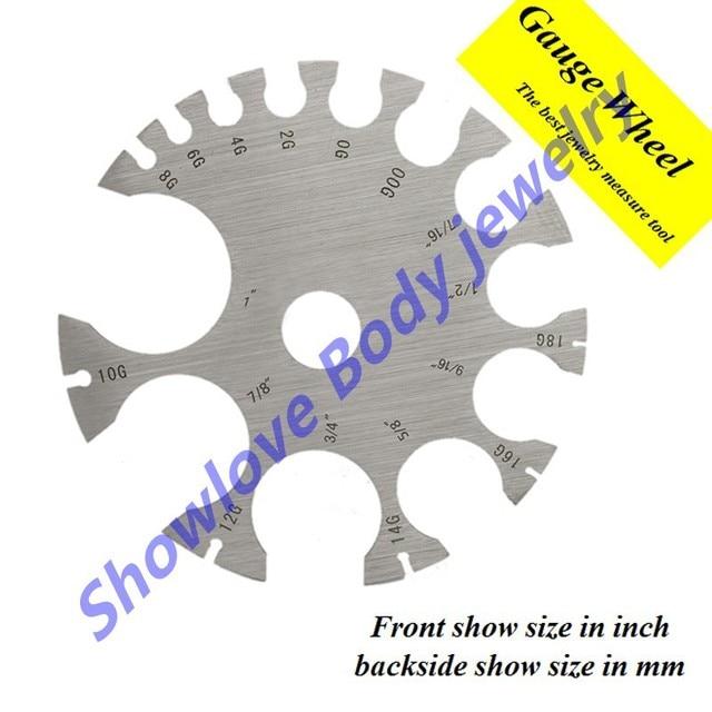 c0fb22efa Showlove-316L Surgical Steel Piercing Gauge Wheel Jewelry Free Shipping