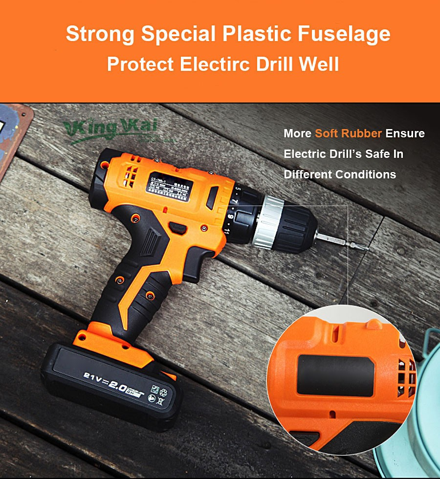 Cordless Lithium Battery Electric Drill-18
