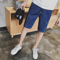 2017 Men's Summer Casual Shorts Men Big Pockets Straight Jeans Shorts Male Fashion Beach Short Pants Plus Size 40
