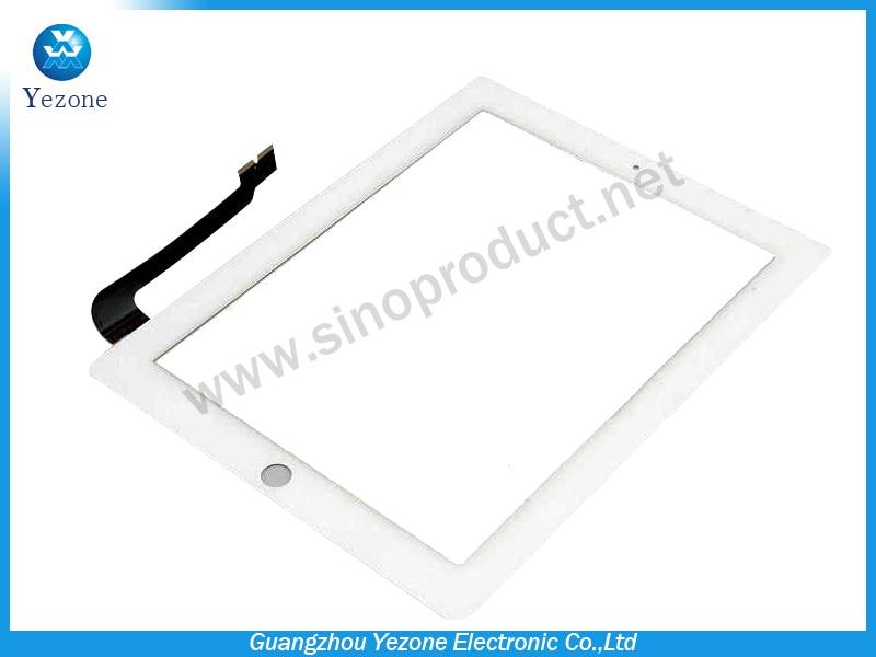 (5 PCS /Lot ) 100% Original New Compatible Touch Screen Digitizer Lens White For Apple Ipad 4 Gen