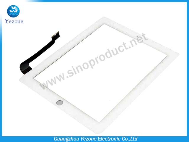 (5 PCS /Lot ) 100% Original New Compatible Touch Screen Digitizer Lens White For Apple Ipad 4 Gen