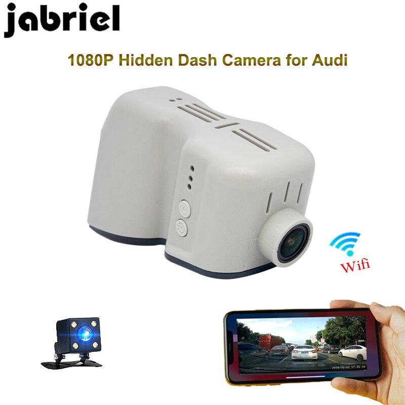 Jabriel Hidden HD 1080p car recorder camera wifi driving recorder dvr dual lens dash cam dash camera for 2008 2013 audi q7 q5 a6