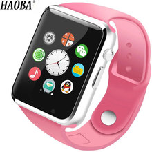 HAOBA Fashion Smart Watch Fitness Tracker SIM TF Card Watch Sleep Monitor Pedometer Smartwatch For Android xiaomi dm09 plus smart watch with sim card pedometer sleep fitness tracker waterproof smartwatch for android