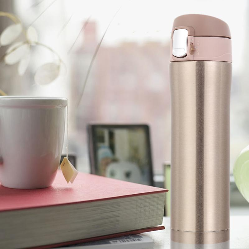 450ml Home Kitchen Thermoses Stainless Steel Insulated Thermos Cup Coffee Mug Travel Drink Bottle Garrafa Termica
