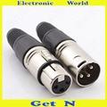 30pcs Neutrik 3-Pole Female/Male Cannon XLR Connector Plug for Microphone Cannon Connector with 3 Poles