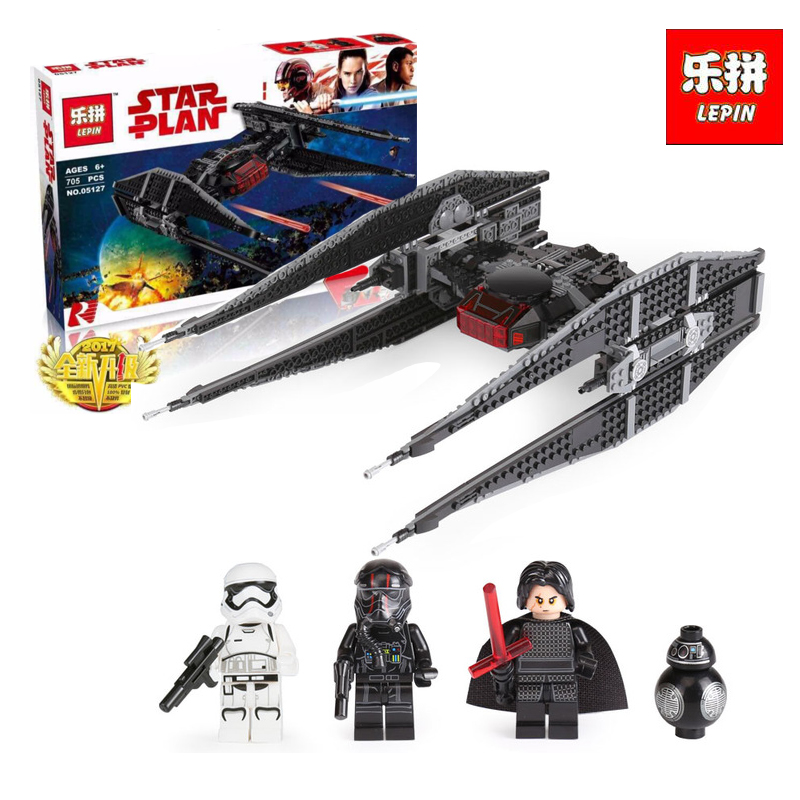 Lepin 05127 705Pcs Star Classic Series The Tie Model Fighter Set Building Blocks as Educational Christmas gifts LegoINGlys 75179 lepin 05127 705pcs star plan series the 75179 tie model fighter set building blocks bricks educational kids toys christmas gifts