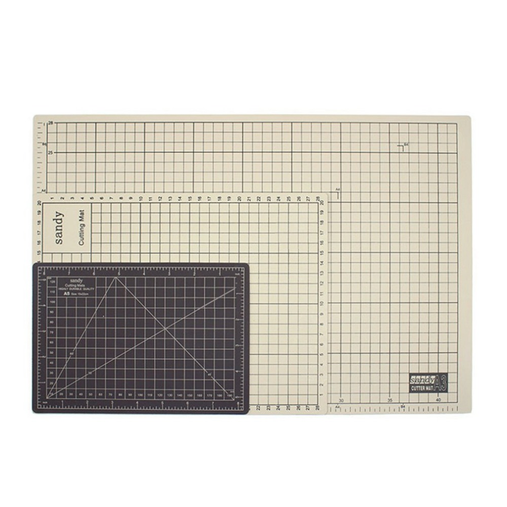 Double Side A3 Cutting Mat Self Healing Craft Cutting Pad Cushion Plate Tool 45x30cm Sewing Cutting Board PVC Rectangle