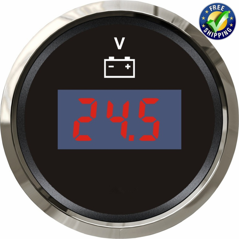 9 32v Digital Voltmeters Modification 52mm Waterproof Voltage Gauges Volt Meters with Backlight for Boat Auto Truck