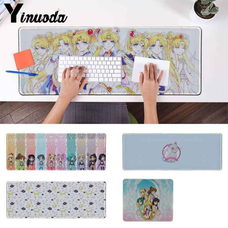 Yinuoda girl Gift Pad Sailor Moon cat Game Player desk laptop Rubber Mouse Mat Office Mice Gamer Soft Lockedge gaming Mouse Pad